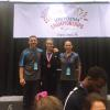 Natalie O. with her coaches Zvonko and Tatiana